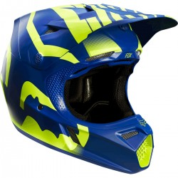 CASCO FOX V3 SAVANT 2015 A1 LE AZUL / AMARILLO