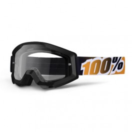 GAFAS MX 100% STRATA MOTOBLACK MANDARINA