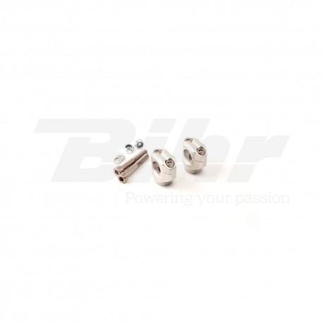 Torretas de manillar X-Bar diam.28,6, 75mm, plata LSL 127X075SI