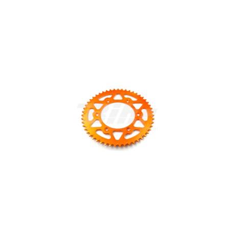 Corona ESJOT aluminio 51-32065AO 52 dientes naranja anodizado