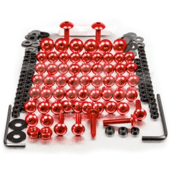 Kit tornillos de carenado Pro-Bolt ZX10R (06-07) aluminio rojo FKA286R