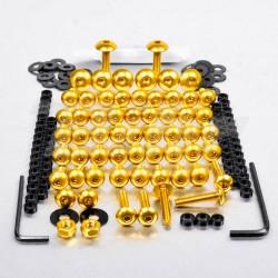 Kit tornillos de carenado Pro-Bolt ZX10R (06-07) aluminio oro FKA286G