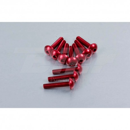 Kit tornillos de carenado Pro-Bolt ZX10R (08-10) aluminio rojo FKA287R