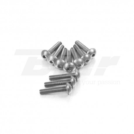 Kit tornillos de carenado Pro-Bolt ZX10R (08-10) aluminio plata FKA287S