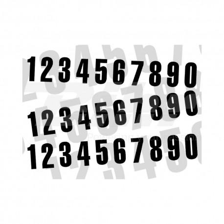 Numero de carrera 3 para caballete ART 10x5cm