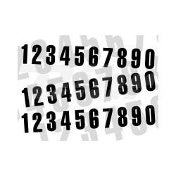 Numero de carrera 5 para caballete ART 10x5cm
