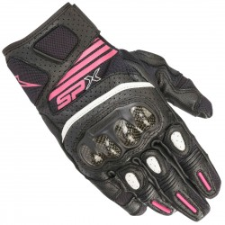 GUANTES ALPINESTARS SP X AIR CARBON V2 LADY NEGRO / BLANCO / FUCSIA