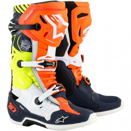 Botas Alpinestars Tech 10 Indy Edición Limitada negra / roja / amarilla
