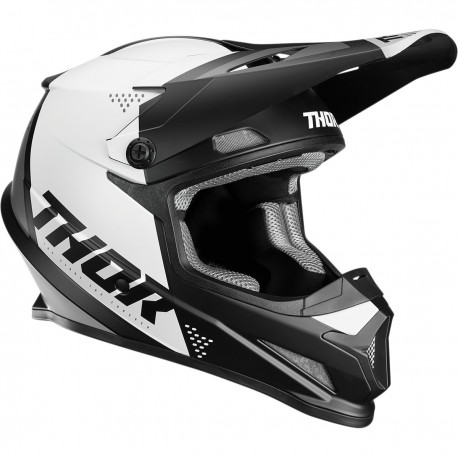 CASCO THOR SECTOR 2018 LEVEL NEGRO / BLANCO MATE -