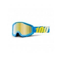 Gafas Mx 100% Strata Blue cristal espejo dorado