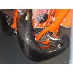 PROTECTOR DE PANZA DE ESCAPE CARBONO RACING KTM / HUSQVARNA 250 / 300