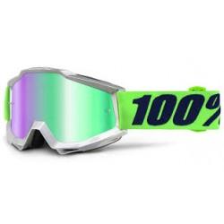Gafas Mx 100% Accuri Nova cristal espejo verde