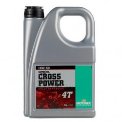 4L. ACEITE MOTOREX CROSS POWER 4T 10W 50 100% SINTETICO