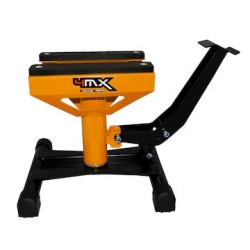 Caballete elevador central universal mecanico motos de cross y enduro hasta 159 kilos 4Mx Racing naranja / negro