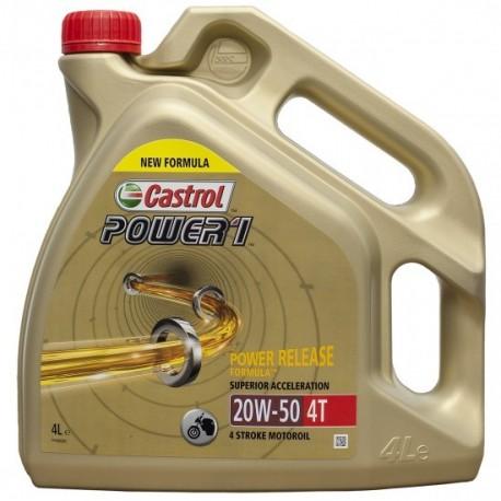 4L. ACEITE CASTROL POWER 1 4T 20W 50