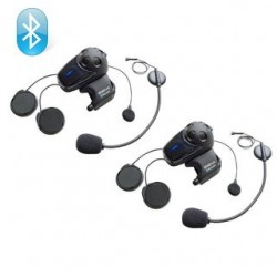 Jgo. 2 Intercomunicadores Sena Smh10 doble microfono para cascos jets, modulares o integrales