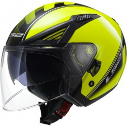 Casco Ls2 OF586 Bishop Atom amarillo / negro