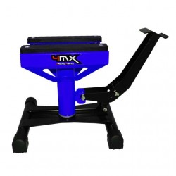 Caballete elevador central universal mecanico motos de cross y enduro hasta 159 kilos 4Mx Racing azul / negro