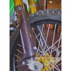 Jgo. Protectores de horquilla Pro-Carbon Racing Kawasaki / Suzuki 2004 - 2011 carbono