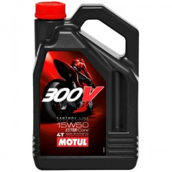 4L. Aceite Motul 300V Factory Line Road Racing 15W 50