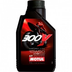 1L. Aceite Motul 300V Factory Line Road Racing 15W 50 *