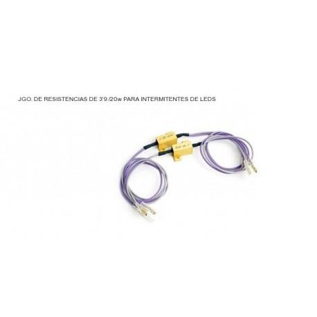 JGO. RESISTENCIAS PUIG PARA INTERMITENTES LEDS 3.9HMS / 20 W
