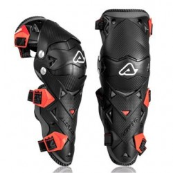 Jgo. Rodilleras Acerbis Impact Evo 3.0 Knee Guard Negro / Rojo -