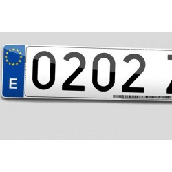 PLACA DE MATRICULA ECOLOGICA COCHE ESTANDAR 520X110 mm.