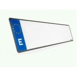 PLACA DE MATRICULA ECOLOGICA COCHE ESTANDAR CARBONO 520x110 mm.