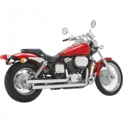 Sistema / Escape completo Vance & Hines Staight Shots Honda Vt 750 Dc Shadow Spirit 2001 - 2007 Cromados