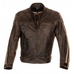 CHAQUETA RICHA RETRO RACING MARRON