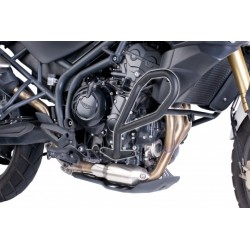 DEFENSAS DE MOTOR PUIG TRIUMPH TIGER 800 2011 - 2013 NEGRA