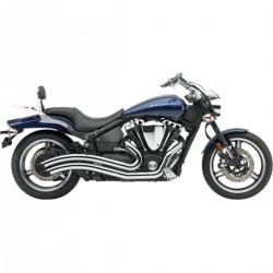Sistema / Escape completo Cobra Speedster Swept Yamaha Xv 1700 2002 - 2010 cromados