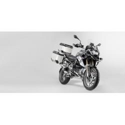 SISTEMA COMPLETO DE MALETAS LATERALES SW-MOTECH TRAX PLATA 45 / 37 L. BMW R 1200 GS LC 2013 - 2016 PLATA
