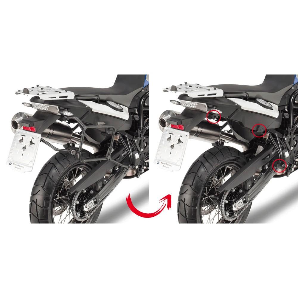 e1123ca5 HERRAJES / SOPORTES MALETAS LATERALES GIVI MONOKEY BMW F 650 / 700 / 800 GS  2008 - 2015 FIJACION RAPIDA - Punto Moto La Carlota