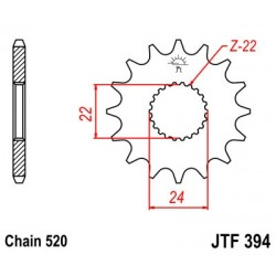 PIÑON DE ATAQUE JT SPROCKETS APRILIA / CAN-AM / HM-MOTO 15 DIENTES *